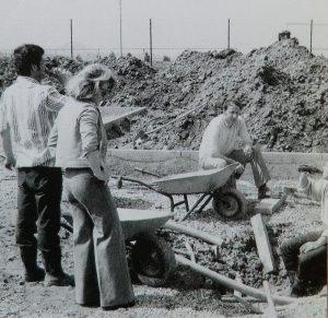 Bauarbeiten Schubkarre